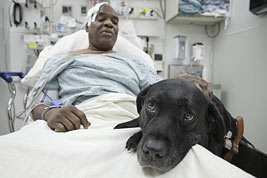 Cecil Williams and his dog