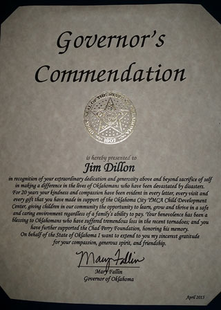 Oklahoma City Governor's Commendation